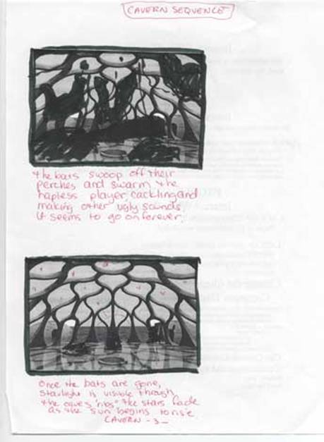 Cavern storyboards page 3