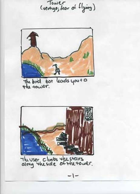Tower storyboards page 1