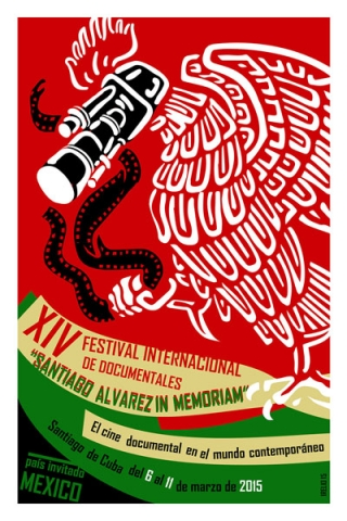 Poster for the 2015  14th International Documentary Festival Santiago Álvarez in Memoriam